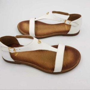 Sandały Dot White