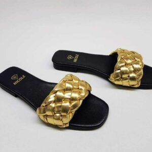 Klapki Pola Gold